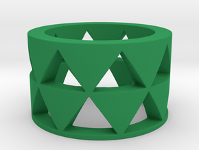 Triangles ring Ring Size 10 in Green Strong & Flexible Polished