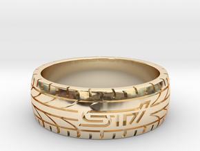 Subaru STI ring - 21 mm (US size 11 1/2) in 14K Yellow Gold