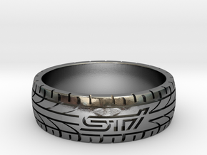 Subaru STI ring - 23 mm (US size 14) in Polished Silver
