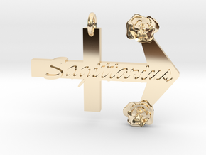 Sagittarius Pendant in 14k Gold Plated