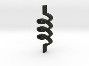 3 loops in Black Natural Versatile Plastic