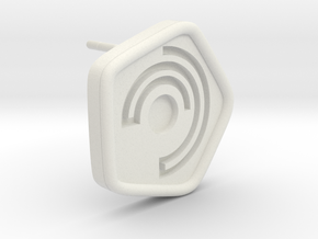 New Harmony Earrings | Round Borders in White Natural Versatile Plastic