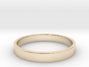 Simple and Elegant Unisex Ring | Size 9 in 14k Gold Plated Brass