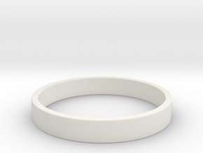Simple and Elegant Unisex Ring | Size 8 in White Natural Versatile Plastic
