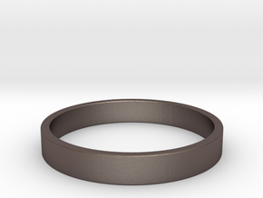 Simple and Elegant Unisex Ring | Size 8 in Polished Bronzed Silver Steel