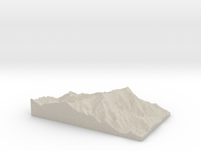 Model of Mount Mitchell in Natural Sandstone