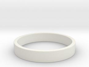 Simple and Elegant Unisex Ring | Size 5 in White Natural Versatile Plastic
