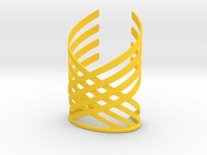 Woven in Yellow Processed Versatile Plastic