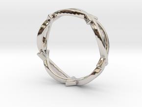 Jesus Fish Eterniy Style Ring Size 10 in Rhodium Plated Brass