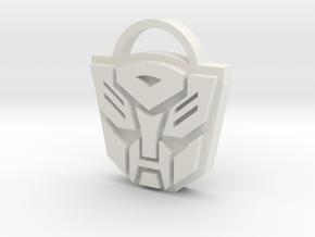 Transformers Keyring in White Natural Versatile Plastic
