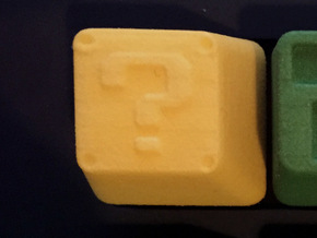 Question Block Cherry MX Keycap in Yellow Strong & Flexible Polished