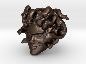 Medusa Paracord Bead in Matte Bronze Steel