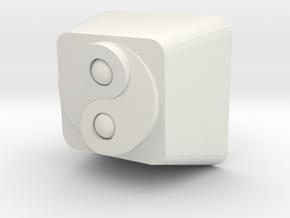 Cherry MX Yin Yang Keycap in White Natural Versatile Plastic