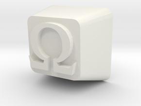 Cherry MX Omega Keycap in White Natural Versatile Plastic