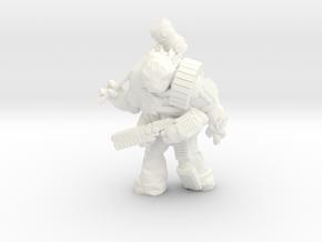 Scilinoid Warrior (28mm/Heroic scale) in White Processed Versatile Plastic