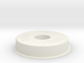 F111 Hubcap in White Natural Versatile Plastic