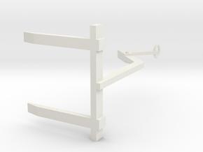 1/50 crane fork in White Natural Versatile Plastic