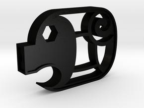 Piggy Cuts V2 - Hollow Nostrils  FULL SIZE in Matte Black Steel