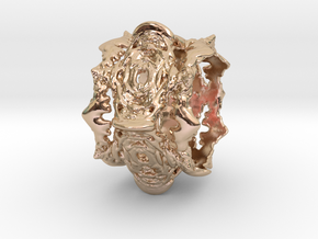 Intestines of Complex Numbers - Ten Spined Ring -  in 14k Rose Gold Plated Brass