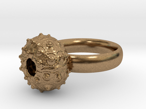 Sputnik Sea Urchin Ring in Natural Brass