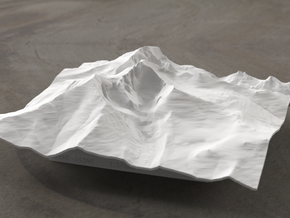 6'' Longs Peak Terrain Model, Colorado, USA in White Natural Versatile Plastic