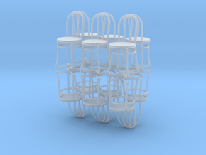 Bistro / Cafe Chairs in 1/32 scale. 12 per pack in Smooth Fine Detail Plastic