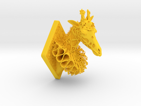 Giraffe-Animal-Lace in Yellow Strong & Flexible Polished