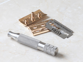 RS Double Edge Safety Razor Top Cap in Polished Bronze