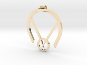 Passive Aggressive Pendant in 14k Gold Plated Brass