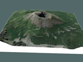 MOUNT VESUVIUS 20X20 CM J in Full Color Sandstone