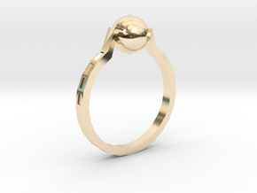 Twisted Ring in 14k Gold Plated Brass