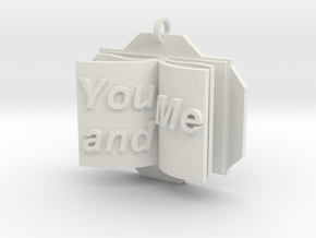 You&Me Pendant in White Natural Versatile Plastic