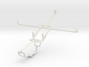 Controller mount for Xbox One & Alcatel POP 7 in White Natural Versatile Plastic