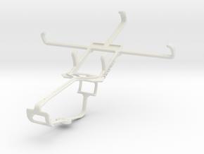 Controller mount for Xbox One & BLU Studio C Mini in White Natural Versatile Plastic