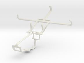 Controller mount for Xbox One & BLU Studio 5.0 E in White Natural Versatile Plastic