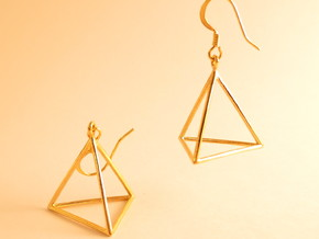 Fire earrings in 18k Gold Plated Brass