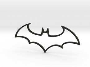 Batman Symbol in Black Natural Versatile Plastic