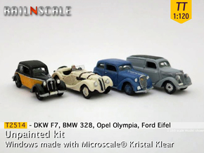 German 1930s cars (SET A) TT 1:120 in Frosted Ultra Detail