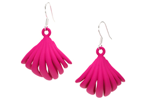 VIEIRA EARRINGS in Pink Processed Versatile Plastic