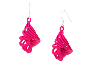 CARACOLA EARRINGS in Pink Processed Versatile Plastic