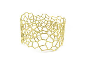 Voronoi Bracelet size L in 18k Gold Plated