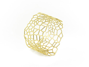 Voronoi Bracelet size M in 18k Gold Plated Brass