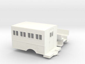 1/50th logging or fire crew transport 'Crummy' Bus in White Strong & Flexible Polished