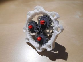 LEGO®-compatible 40-teeth ring gear in White Natural Versatile Plastic