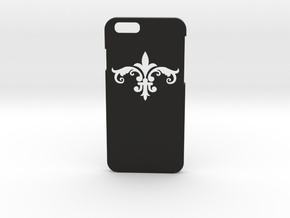 Fleur De Lis iPhone6 Case in Black Natural Versatile Plastic