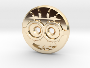 Minion Shirt Button in 14k Gold Plated Brass