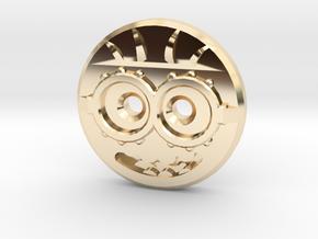 Minion Shirt Button in 14k Gold Plated Brass