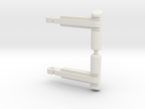 Replacement Pirate Locks in White Natural Versatile Plastic