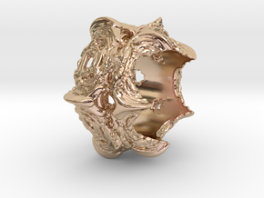 Intestines of complex numbers - 5 Spined Ring in 14k Rose Gold Plated Brass