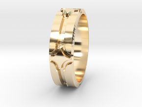 Rhombt Sz12 in 14k Gold Plated Brass